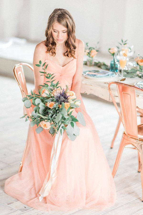 peach and copper wedding inspiration