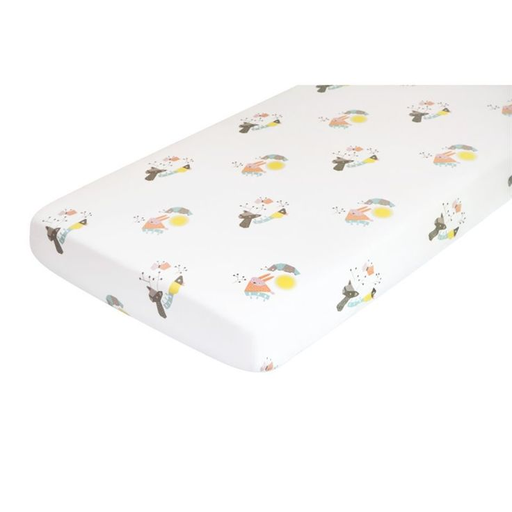 Lowest price online on all Nursery Works Menagerie Forest Animals Organic Cotton Percale Sheet - T18016