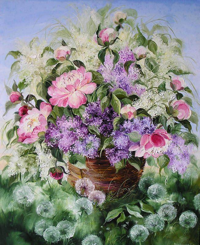 Картины - Цветы - Летний букет (Холст, масло)