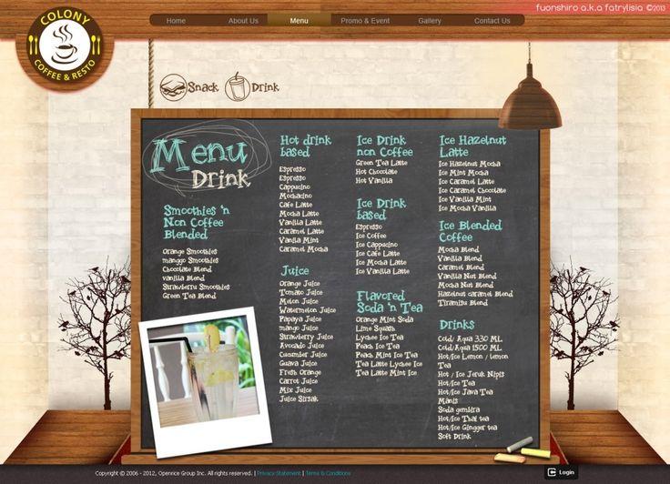 Web Design | Colony Coffee and Restaurant | Kreavi.com
