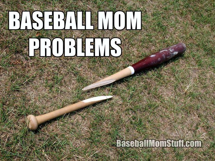 Baseball Mom Problems Broken Bat Baseball Mom Baseball Memes Mom Problems