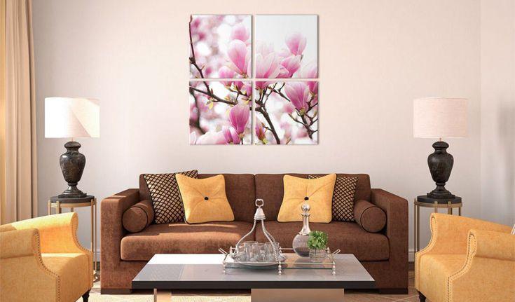 Obraz na plátně - Blooming magnolia tree #canvas #prints #obraz #decor #inspirace #home #barvy #pictureframes #tree #spring