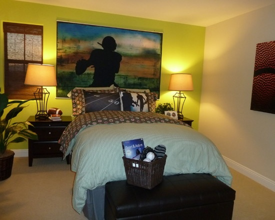 Bedroom Boys Bedrooms Football Design, Pictures, Remodel ...