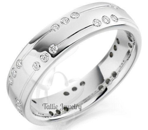 mens 10k white gold diamond wedding bandsunisex wedding ringsmatching wedding rings