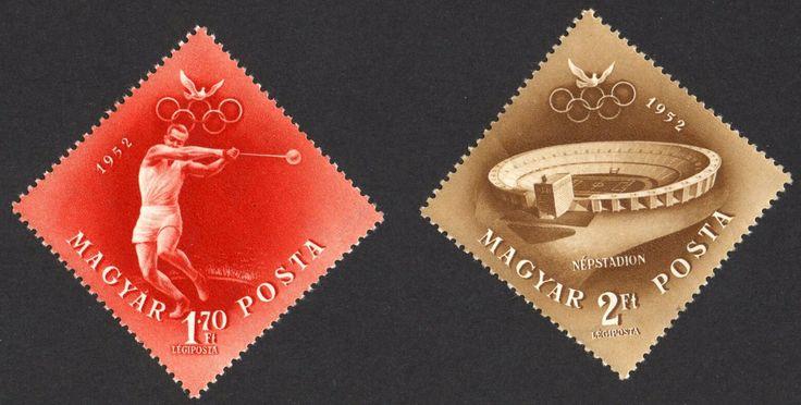 #C107-C108 Hungary - 1952 Olympic Games Type (MNH)