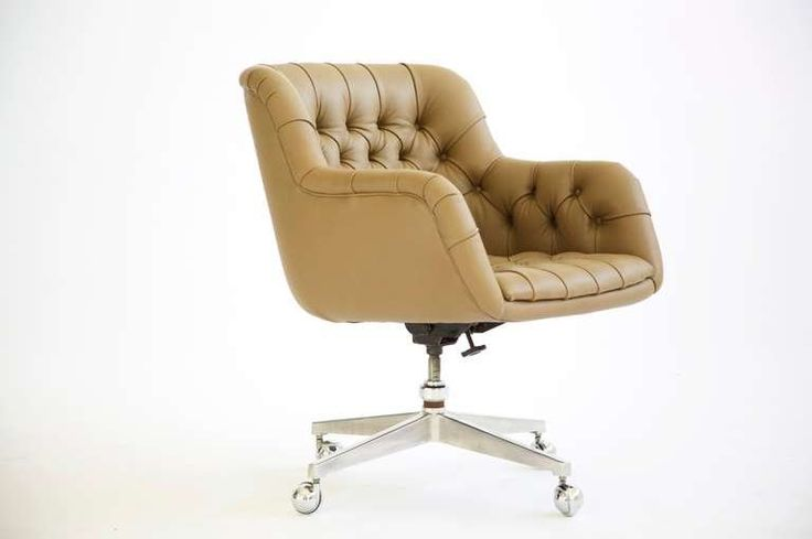 Edward Wormley Tufted Desk Chair | From a unique collection of antique and modern office chairs and desk chairs at https://www.1stdibs.com/furniture/seating/office-chairs-desk-chairs/