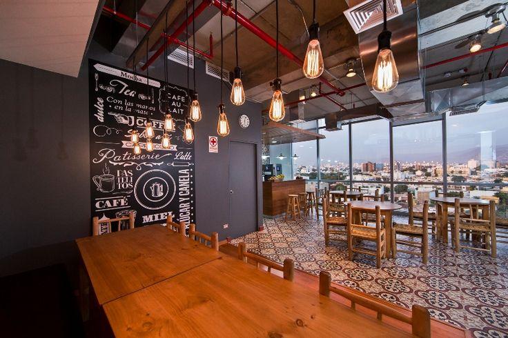 Booking.com. Coffe Area Miraflores, Perú I #Contract #Workplaces