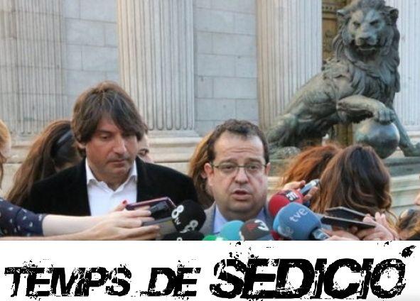 """Trobo que se n'ha parlat massa poc. En nom del Comitè Executiu del Pacte Nacional pel Referèndum, Joan Ignasi Elena i Francesc de Dalmases han visitat aquests dies el """"Congreso de los Diputados"""" i s'han reunit amb el grups que així ho han volgut, per exposar el parer d'una part àmpliament majoritària de la societat catalana. Compte que això és molt bèstia: els representants del Partido Popular, el PSOE (amb el PSC a dins) i Ciudadanos, no és que no hagin volgut acceptar el seu plantejament…"""