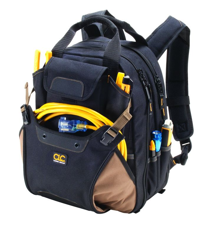 Custom Leathercraft 1134 Tool Backpack, 44-Pocket
