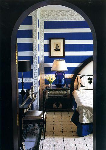 Bold blue stripes