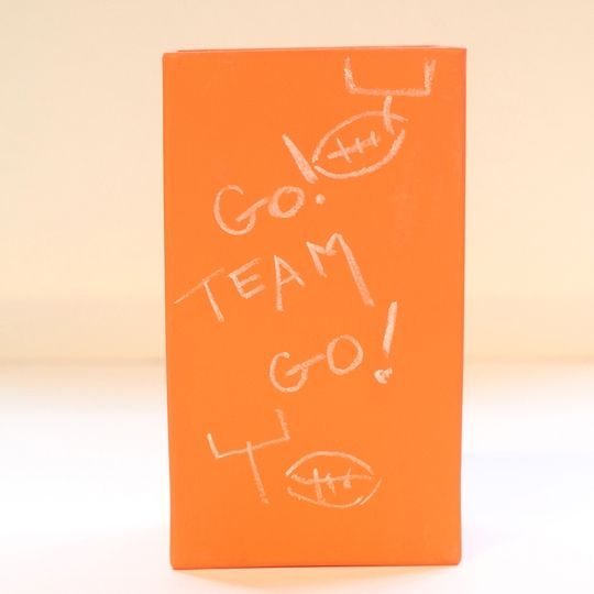 Cheer on your favorite #team with our Mandarin Rectangle Vase! It also makes the perfect #housewarming #gift!