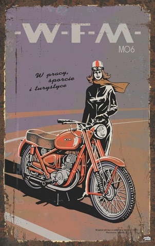 One of the first, now slightly forgotten, manufacturers of single-track vehicles was the Warsaw Motorcycle Factory (WFM). The WFM produced the Osa scooter, one of Poland's most beautiful vehicle designs.