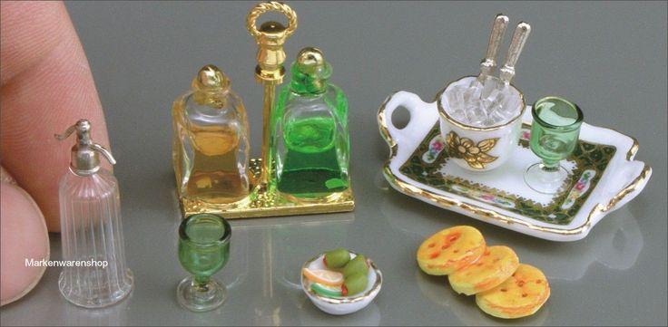 Reutter-Porzellan-Miniaturen-Whisky-und-Soda-Set-1-755-8-fuer-Puppenstube