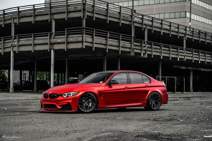 #Satin #Chrome Red #BMW M3 with Brixton Forged PF5 Duo Series #Wheels #cars #sportscars #design #luxury #style #rims More from Brixton Forged >> http://www.motoringexposure.com/featured-fitment/brixton-forged/