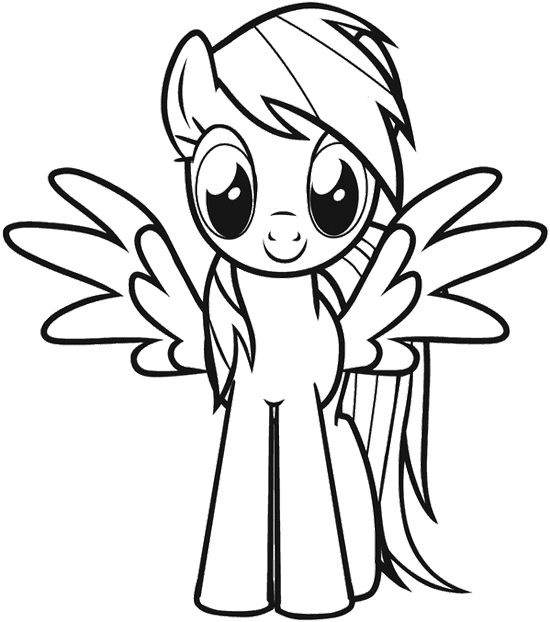 My Little Pony With Wings Coloring Pages : My little pony with wings coloring page