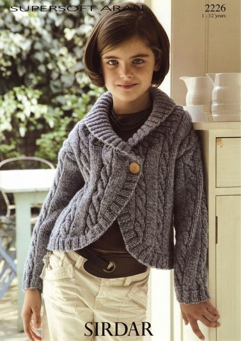 Sirdar--Jacket (ages 1 - 12)