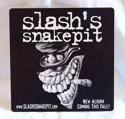 Extremely rare official slashs snakepit album art promo sticker guns n roses sold out