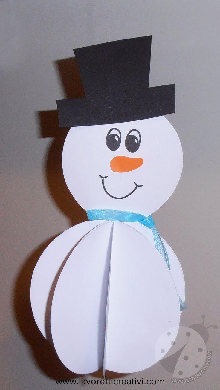 Addobbi Inverno Pupazzo di neve 3D