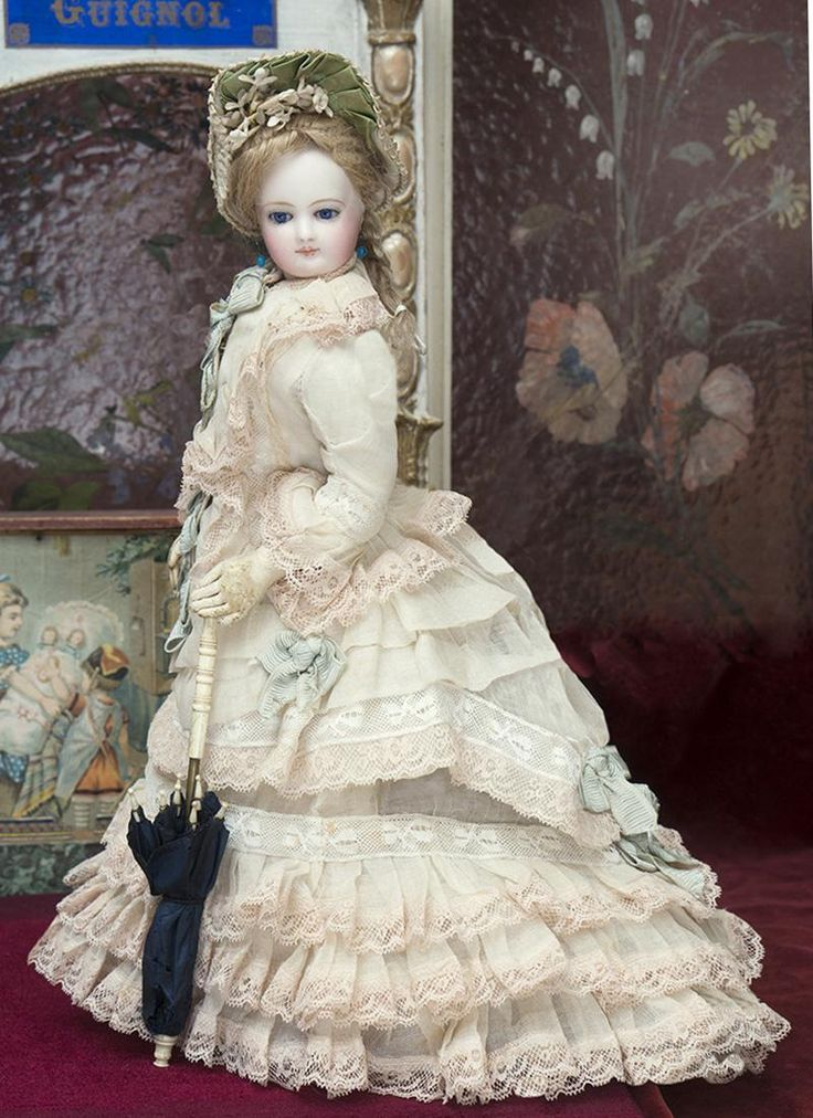 "14 1/2"" (37 cm) Antique French Fashion Jumeau doll poupee parisienne from respectfulbear on Ruby Lane"