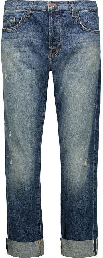 J Brand Sonny mid-rise distressed boyfriend jeans