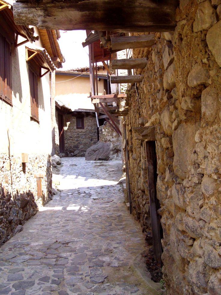 Casas de piedra con vigas de madera!!