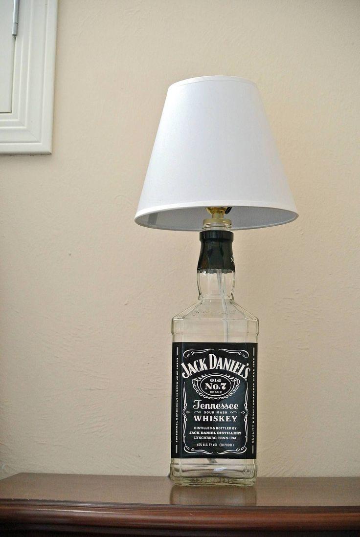 Big Jack Daniels Glass Bottle Lamp - Jack Daniels Decor