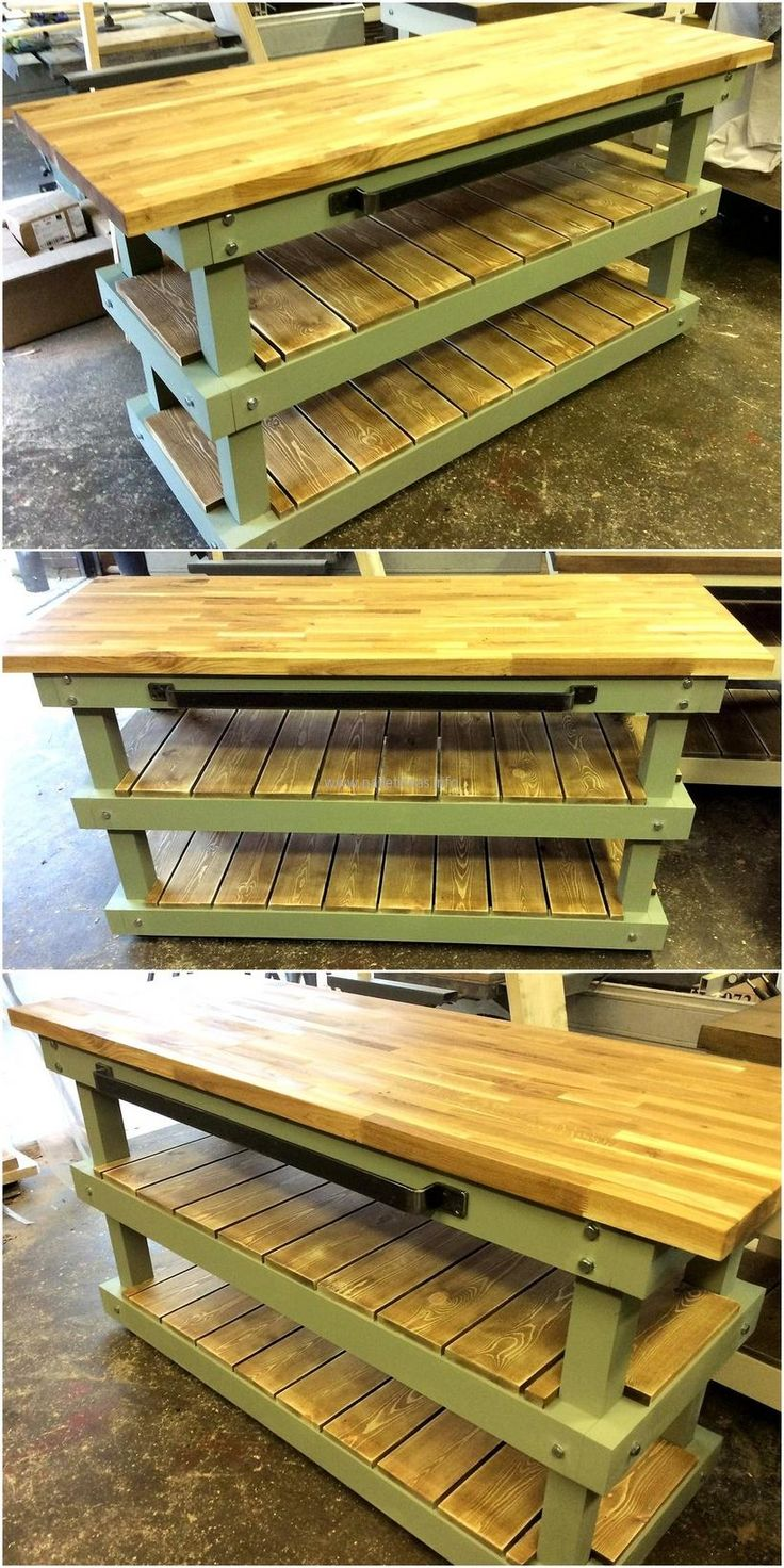 Kitchen island pallet wood - 20 Plans For Wooden Pallet Recycling