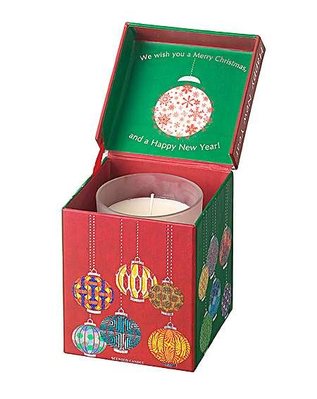 Christmas Candle in Musical Box