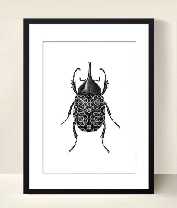 Imprimer Scarabee affiche poster d'insecte Digital Art Télécharger collage - téléchargement instantané - noir et blanc - insecte par DigitalArtParis sur Etsy https://www.etsy.com/fr/listing/162449650/imprimer-scarabee-affiche-poster