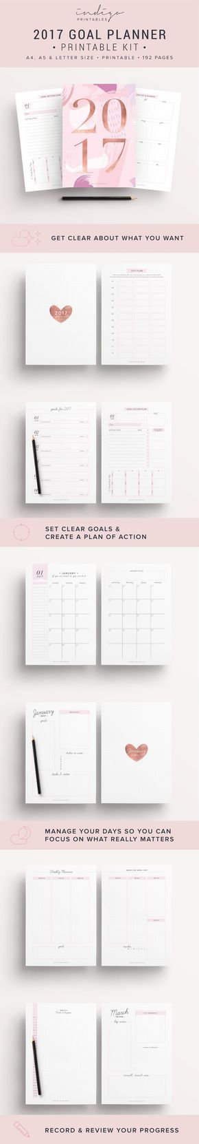 25+ unique Monthly planner 2017 printable ideas on Pinterest - printable monthly planner