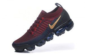 b580cba6feb Mens Nike Air VaporMax Flyknit 2. 0 W Burgundy Gold Navy Blue 942842 601  Running