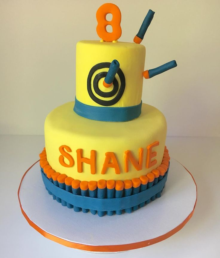 25+ best Nerf cake ideas on Pinterest Nerf gun cake, 7th ...