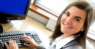 Image result for pictures of a person behind a computer doing work to become a accountant