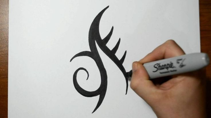 basic-tribal-tattoos-how-to-draw-a-simple-tribal-mark-tattoo-design ...