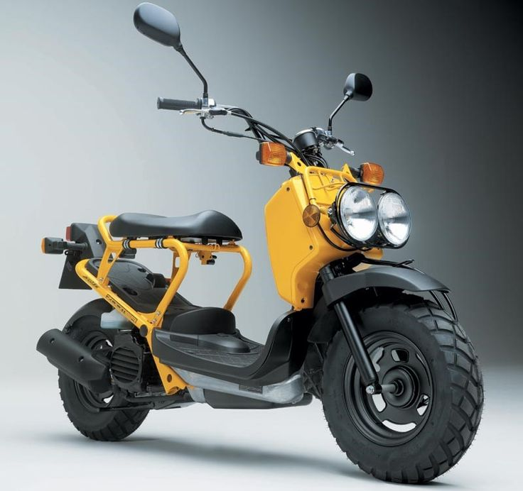 Honda's chunky little 50cc Zoomer is a weird cross between a twist-and-go scooter, a Tonka toy and a stripped-bare army Jeep. It's easy to ride, nippy and stylish. Honda claim low emissions, it has