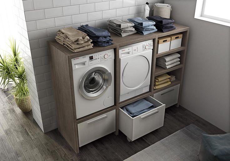 Mobile lavanderia componibile con lavatoio LAVANDERIA 10 Collezione Urban by LEGNOBAGNO