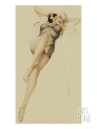 Vargas Girl Art | Varga Girl, October 1940 Art Print by Alberto Vargas at Art.com