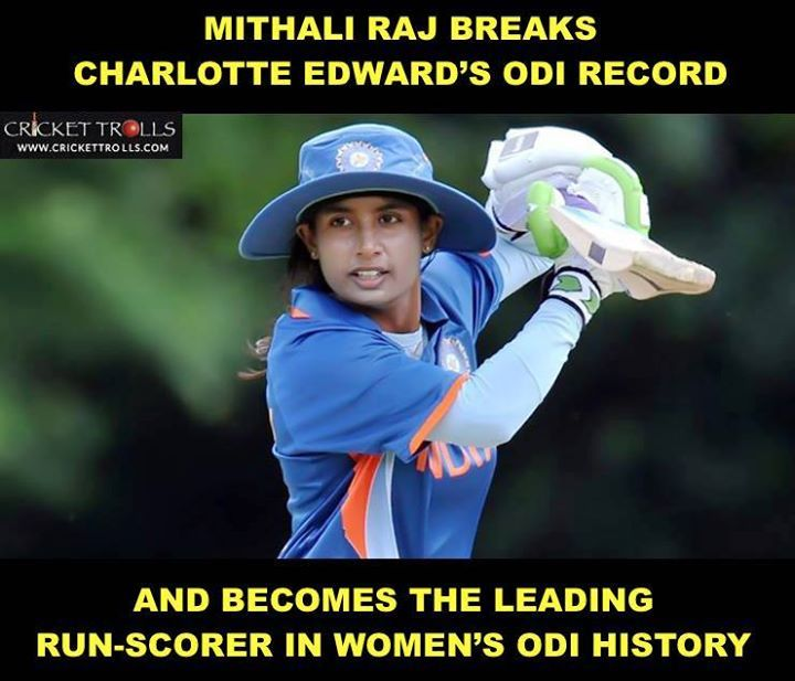 Mithali Raj becomes the leading run-scorer in Women's ODI cricket with more than 6000 runs #INDvAUS #AUSvIND #WWC17 For more cricket fun click: http://ift.tt/2gY9BIZ - http://ift.tt/1ZZ3e4d