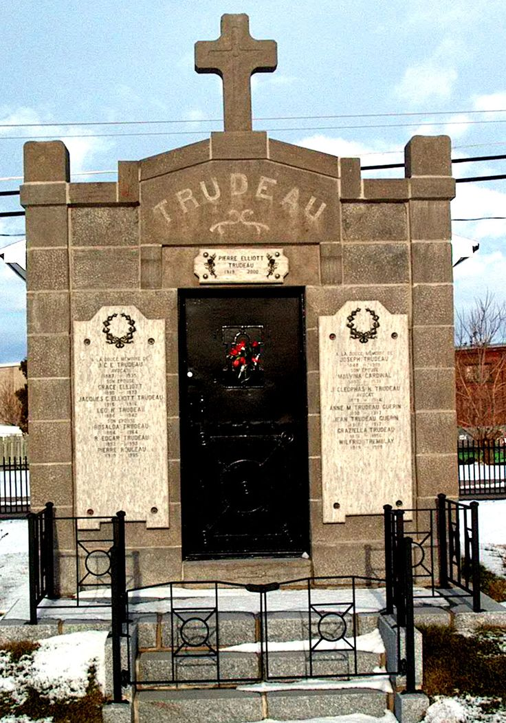 Former Prime Minister Pierre Trudeau's burial site in Saint Remi, Quebec, only one town over from where I was raised.