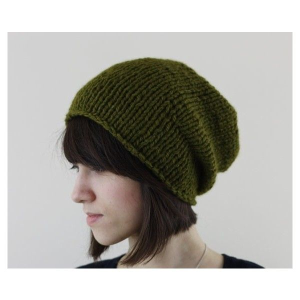 Hand Knit Hat, Slouchy Beanie Hat, Women's Knitted Hat, Men's Slouchy... ❤ liked on Polyvore featuring men's fashion, men's accessories, men's hats, mens slouchy beanie, mens slouchy beanie hats, mens beanie and mens slouch hat