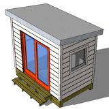 6x8 shed plan.  Great for craft fair