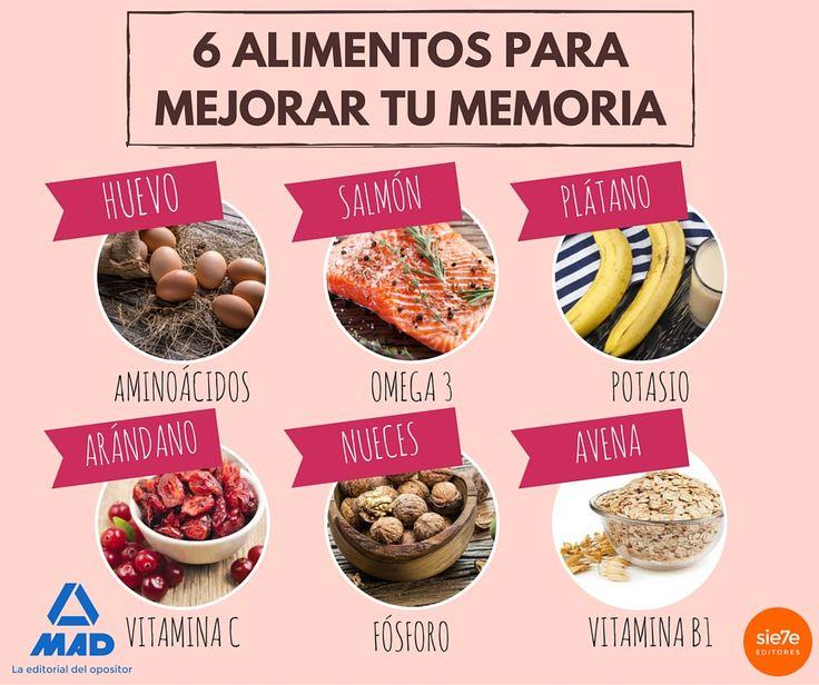 Alimentos que mejoran la memoria, dieta saludable, dieta saludable para estudiantes, alimentos que mejoran el rendimiento