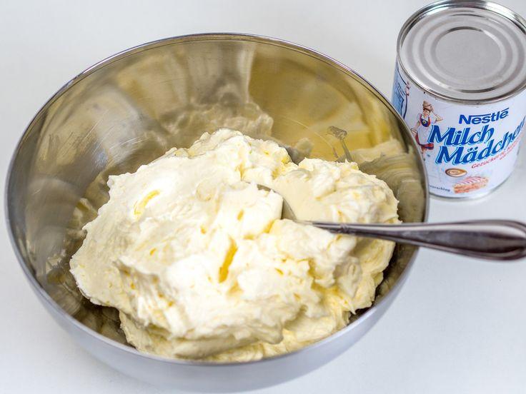 Milchmädchen Buttercreme / schnelle Buttercreme für Fondant / Motivtorten
