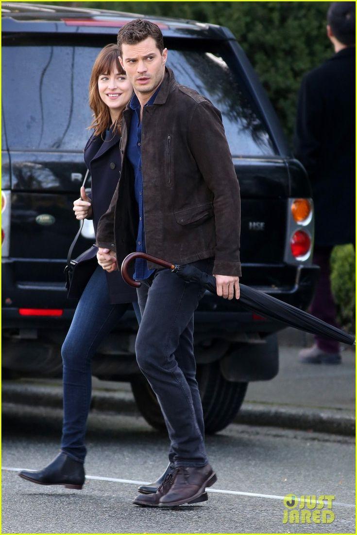 Dakota Johnson & Jamie Dornan Hold Hands for More 'Fifty Shades' Filming