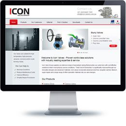 Icon Value Company website built with PHP/HTML, JQuery .