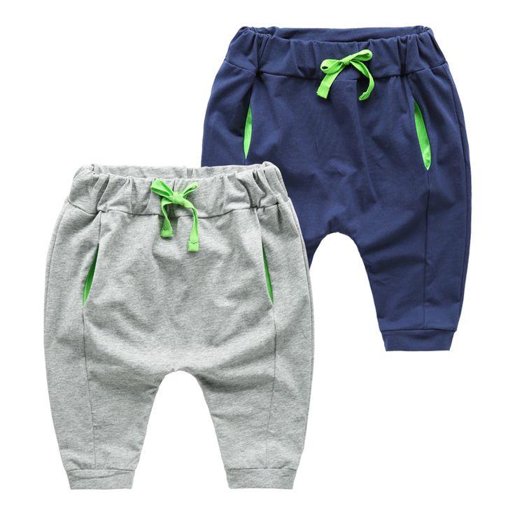 Дешевое Baby cotton Haren pants children summer 2015 new children's leisure pants baggy pants boys five, Купить Качество Брюки и штаны непосредственно из китайских фирмах-поставщиках: