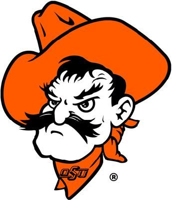 Pistol Pete, mascot for Oklahoma State University. It was not until 1958 that Pistol Pete was adopted officially as the school's mascot. The familiar caricature of Pistol Pete was officially sanctioned in 1984 by Oklahoma State University as a licensed symbol.