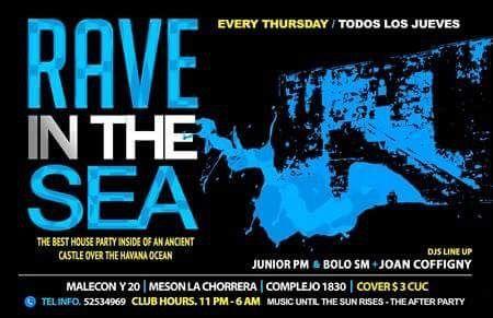 LA HABANA, CUBA:    MAÑANA JUEVES / EN LA CHORRERA 1830 / JUNIOR PM - BOLO SM - BLAST NOISE / DE 11PM A 6AM / CV: 3CUC / SUMATEEEE !!!!!!!  PARA RECIBIR NUESTRA PROMOCION POR SMS ENVIA: ''PROMO RAVE PARTY'' AL +5354834060 www.facebook.com/top.publicity @top_publicity www.facebook.com/webcubana www.webcubana.com www.facebook.com/gocuba360