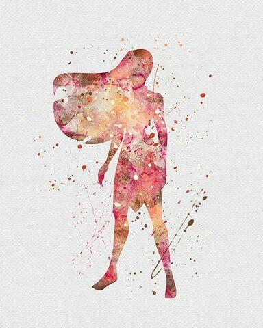 Watercolor - Pocahontas