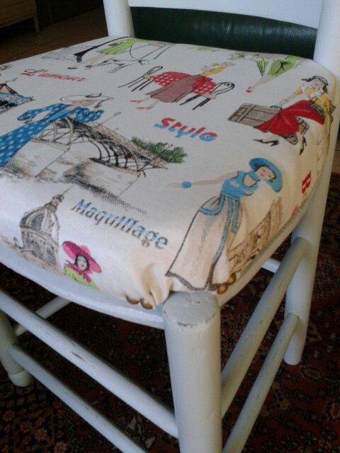 Les Meubles De Cathy #8: Chaise Relookée Par Les Meubles De Cathy 27210 Saint Maclou --A VENDRE--